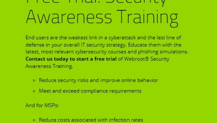 Webroot lifts security awareness training with 10 minute