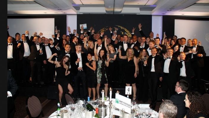 Winners gather to celebrate - well done everyone